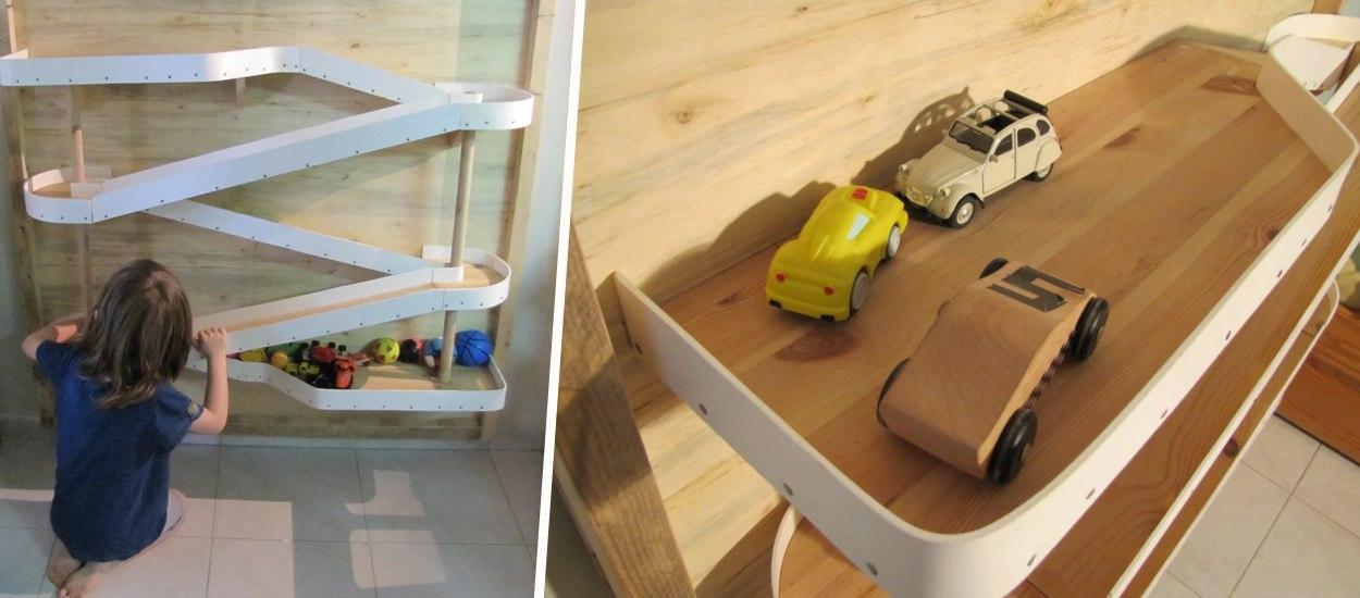 7 idées pour fabriquer un circuit de petites voitures (dans la maison ou le jardin !)