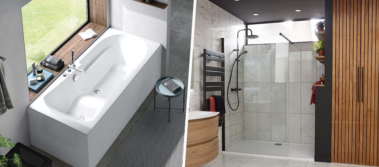 Le match : plutôt douche ou baignoire dans votre salle de bains ?