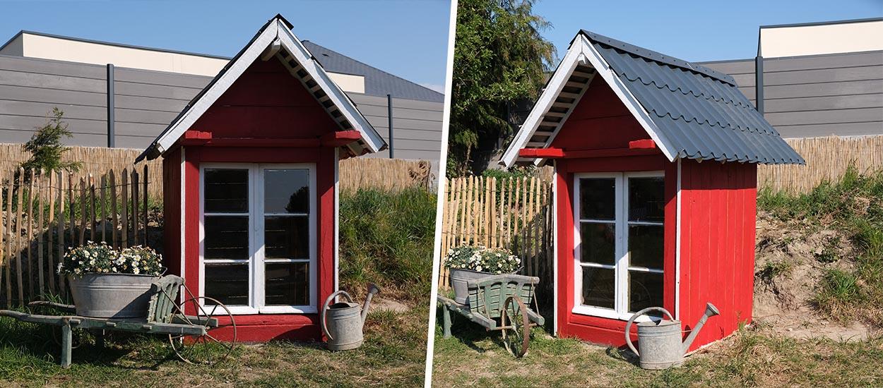 Tuto : Réalisez une cabane de jardin scandinave avec une fenêtre récup'