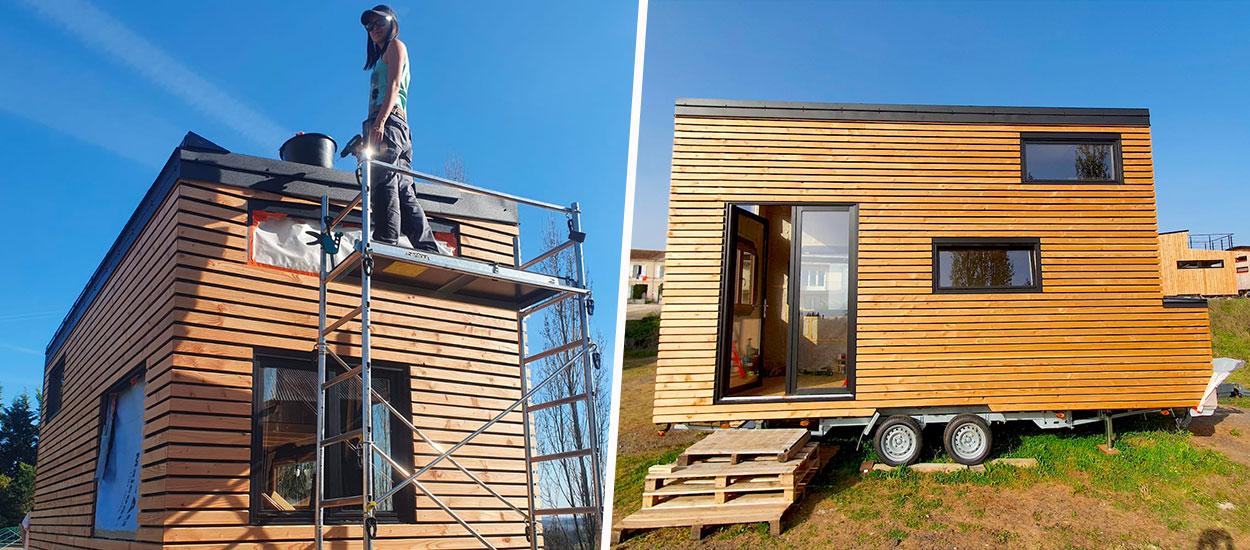Problème d'approvisionnement, fuites d'eau et pesée, ce couple finalise les travaux de sa tiny house