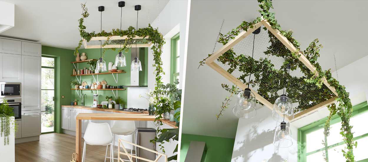 Tuto : Réalisez un cadre suspendu pour y faire grimper vos plantes et végétaliser votre plafond