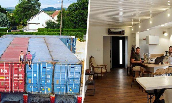 Ce couple de trentenaires a construit sa maison en containers à une vitesse record !