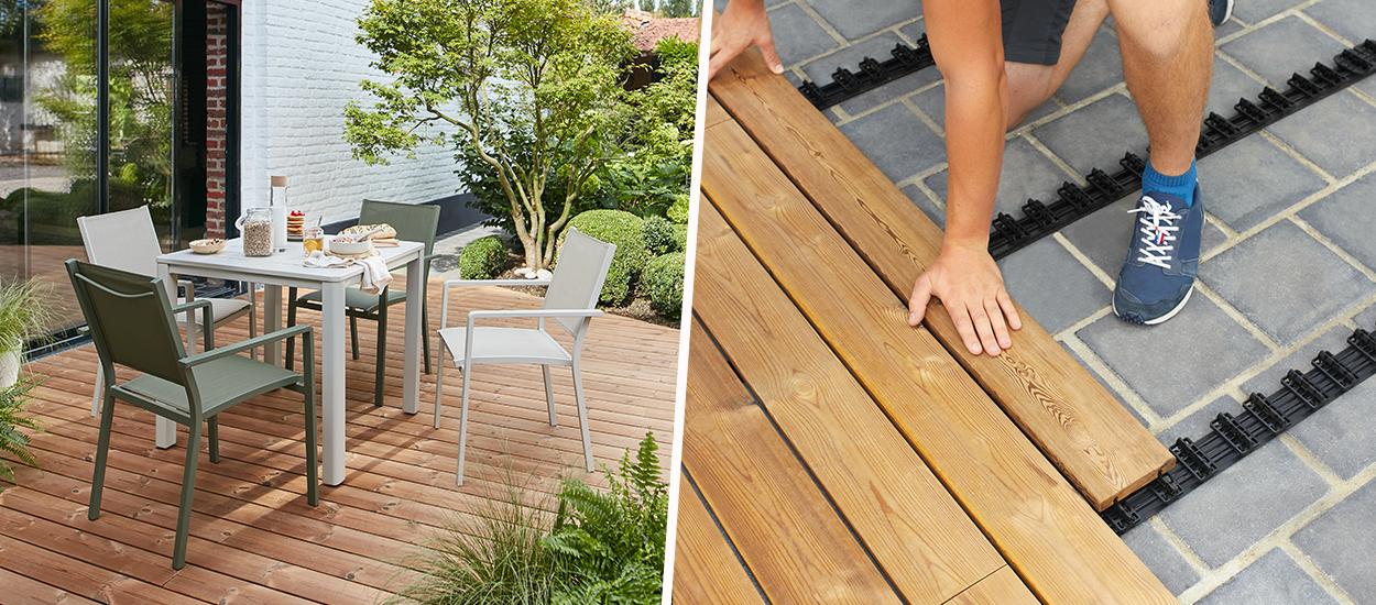 Des lames de terrasse à clipser et déclipser : emmenez votre terrasse quand vous déménagez !