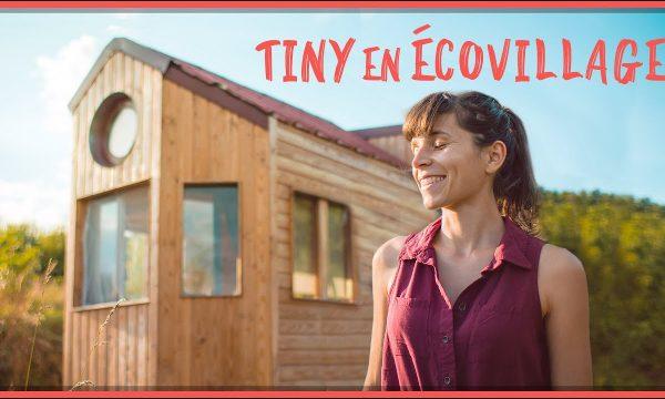 Camille, 30 ans a installé sa tiny house autoconstruite dans un éco-village des Pyrénées