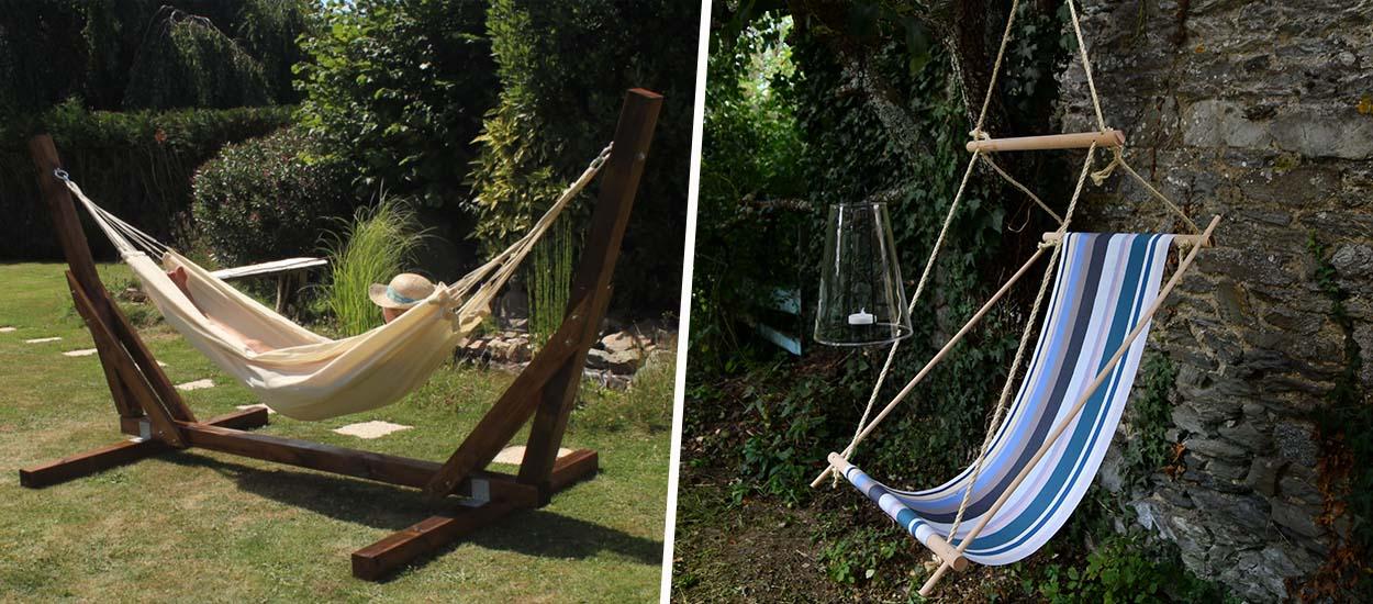 5 DIY pour fabriquer un hamac ou une chaise suspendue et profiter du soleil