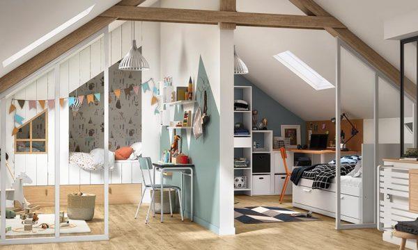 5 idées pour aménager une chambre d'enfant dans des combles