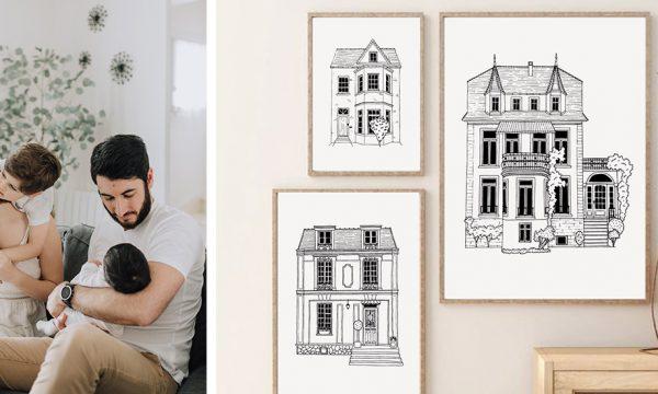 Cette illustratrice dessine les maisons de famille des gens pour en faire un cadeau personnalisé