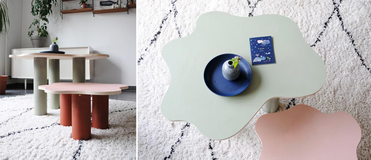 Tuto : Réalisez facilement un duo de petites tables dans la tendance déco curvy