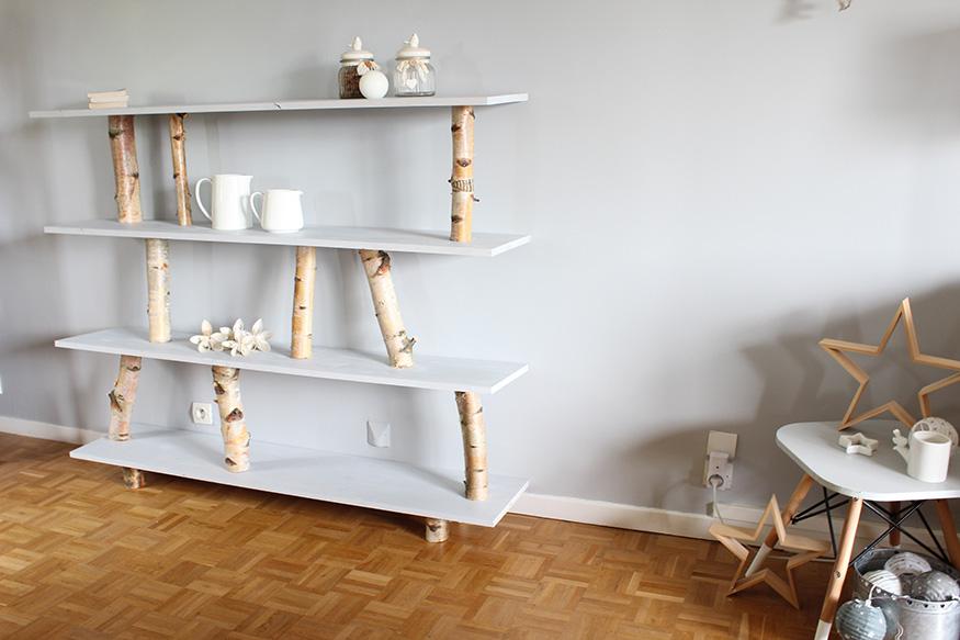 une étagère en rondins DIY