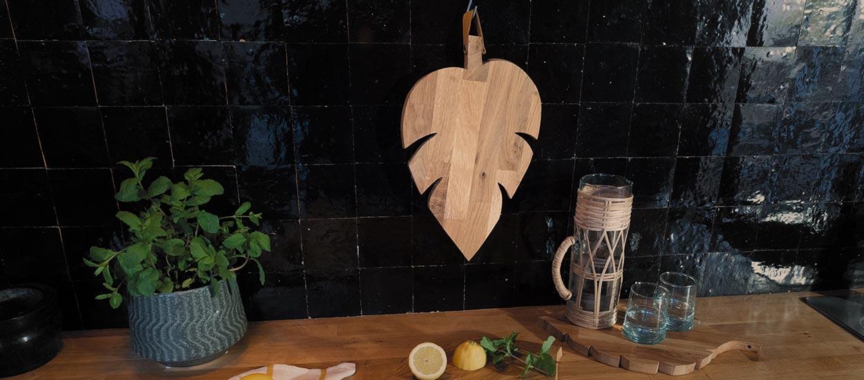 Tuto : Fabriquez une planche à découper en forme de feuille