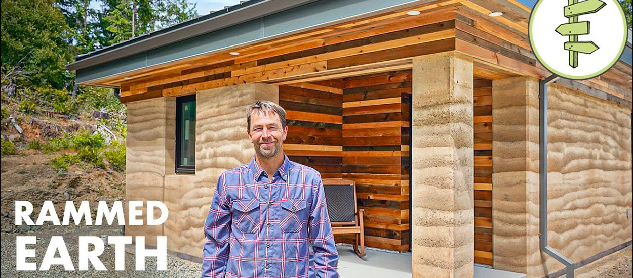 Cette maison ultra durable et écolo a été construite en terre battue grâce à des techniques modernes