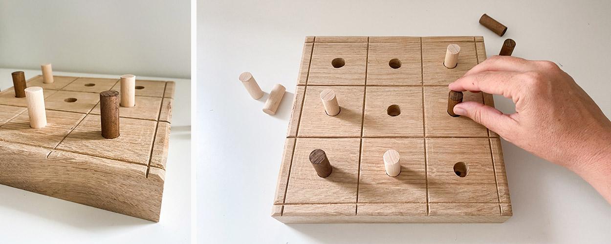 Tuto : Fabriquez un jeu de morpion en bois avec des matériaux récup'