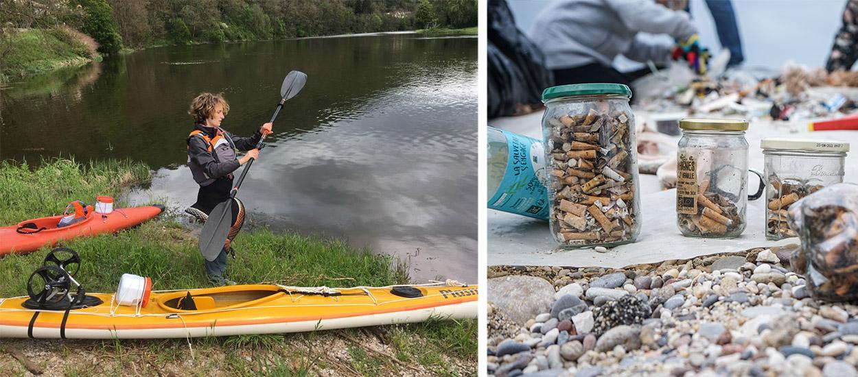 Elle a descendu la Loire en kayak et en solitaire sur 1200 km pour ramasser les déchets