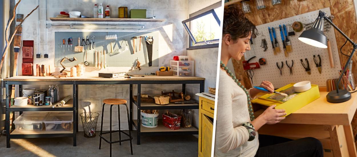 5 pièces où vous pouvez aménager un vrai atelier de bricolage
