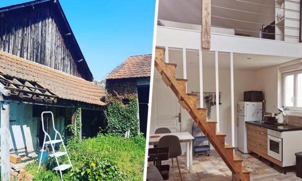 Avant / Après : Ils ont rénové cette grange délabrée pour seulement 8000 euros