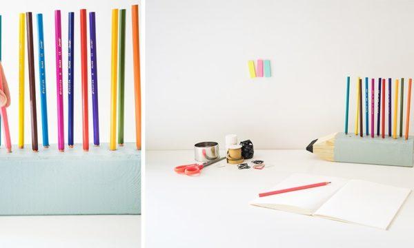 Tuto : Fabriquez un porte-crayons en forme de crayon géant pour vos enfants !