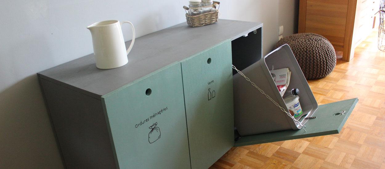 Tuto : Fabriquez un meuble personnalisé pour vos poubelles de tri sélectif