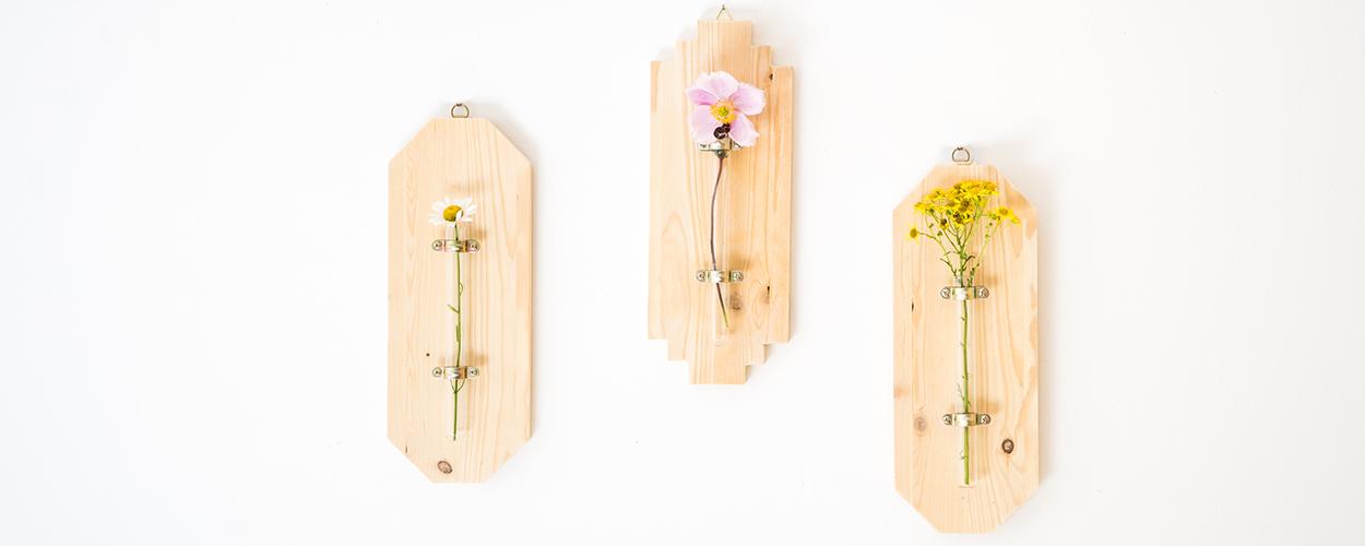 Tuto : Réalisez facilement un joli triptyque de soliflores muraux