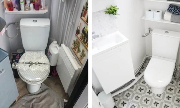Avant / Après : 7 toilettes à la déco douteuse remises au goût du jour