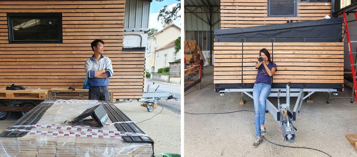 Après un an de travaux intensifs, Carène et You Liang s'apprêtent à terminer la construction de leur tiny house