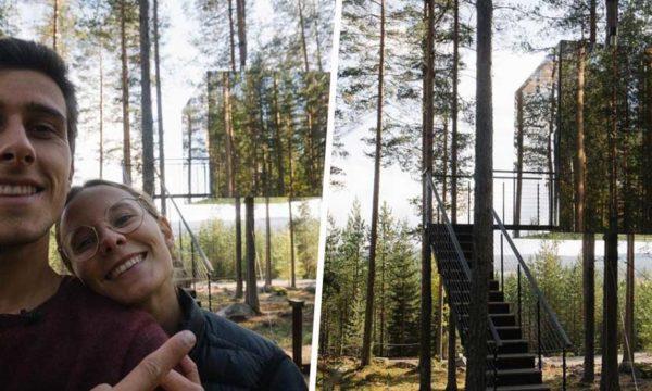 Ils ont testé : dormir dans une cabane invisible perchée dans les arbres