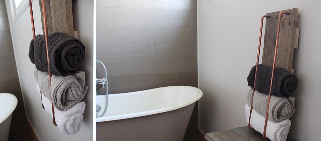 Tuto : Réalisez une étagère de rangement pour vos serviettes de bains