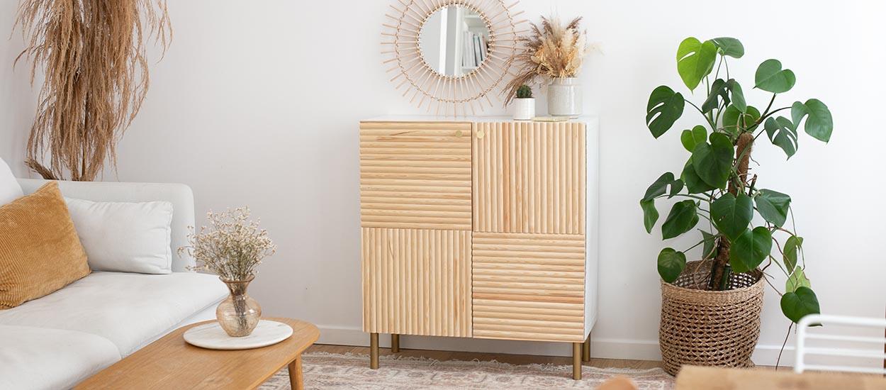 Tuto : Customisez une étagère MIXXIT pour en faire un petit meuble élégant et tendance