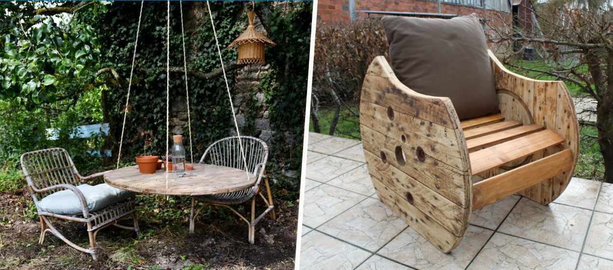 6 idées de meubles originaux à fabriquer à partir d'un touret