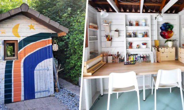 Avant / Après : Cette artiste a transformé un abri de jardin abandonné en