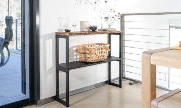 Tuto : Fabriquez une console en bois brut pour une déco nature