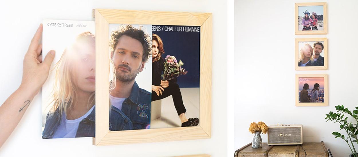 Tuto : Réalisez un set de 3 cadres pour exposer vos vinyles préférés